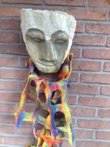 Masker met viltsjaal