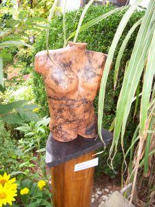 Torso Terracottamet Paardehaar(raku)